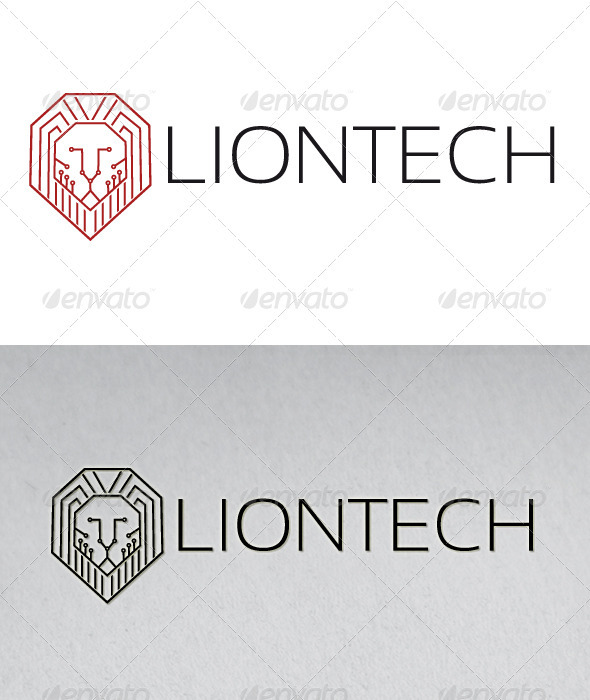 Lion Tech Logo - Animals Logo Templates