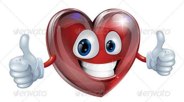 Heart mascot graphic - Characters Vectors