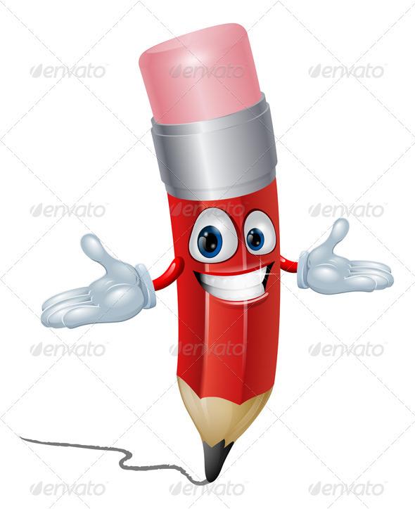 Pencil cartoon character - Characters Vectors