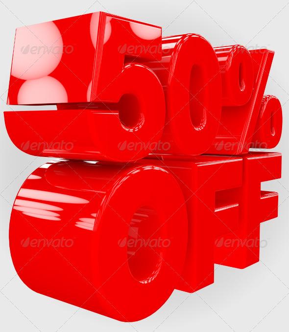 50% Off 3D Render - Text 3D Renders