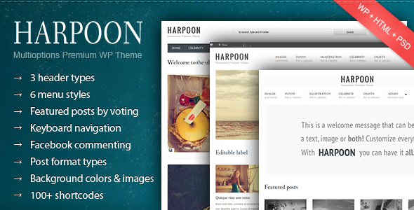 Harpoon - Multioptions Responsive WP Theme