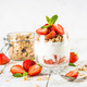 Greek yogurt parfait with strawberry - PhotoDune Item for Sale