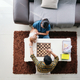 Young Couple With Pet Playing Chess Game at Home - PhotoDune Item for Sale