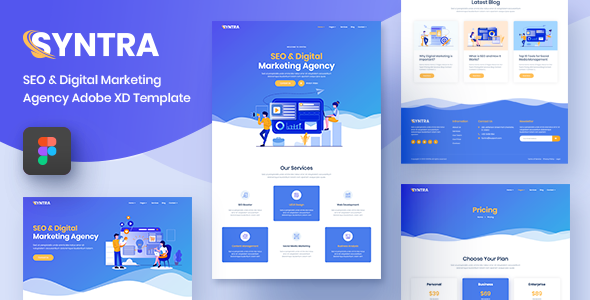 SYNTRA – SEO & Digital Marketing Agency Figma Template