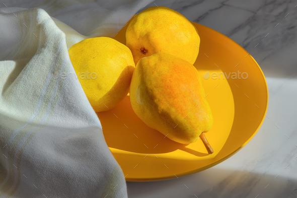 Organic ripe fresh pears - Stock Photo - Images