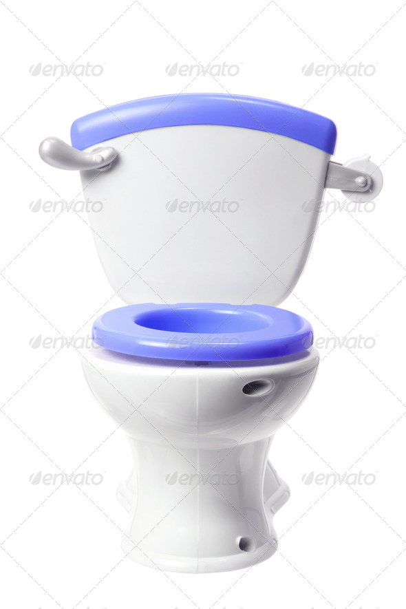 Toy Toilet Bowl - Stock Photo - Images