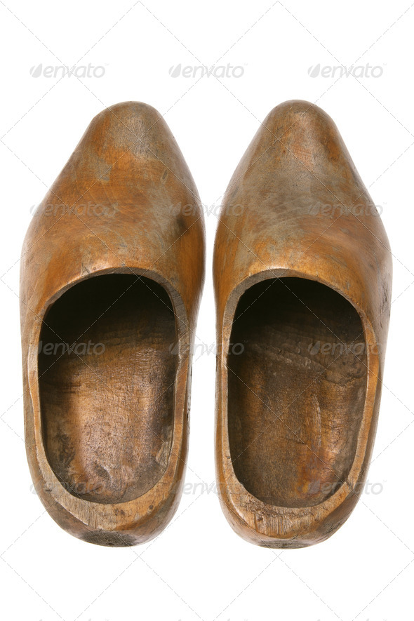 Wooden Dutch Clogs - Stock Photo - Images
