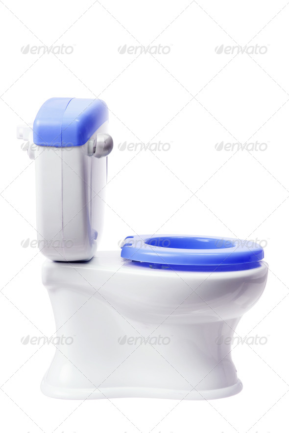 Toy Toilet Bowl - Stock Photo - Images