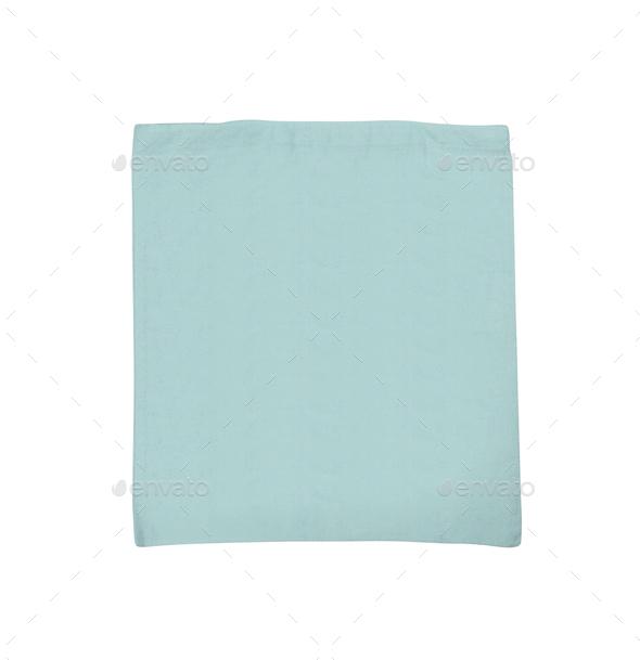 fabric bag isolated on white - Stock Photo - Images