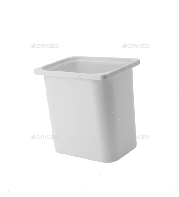 Clothes basket isolated on white - Stock Photo - Images