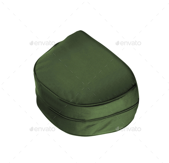 a green bag or case on a white background - Stock Photo - Images