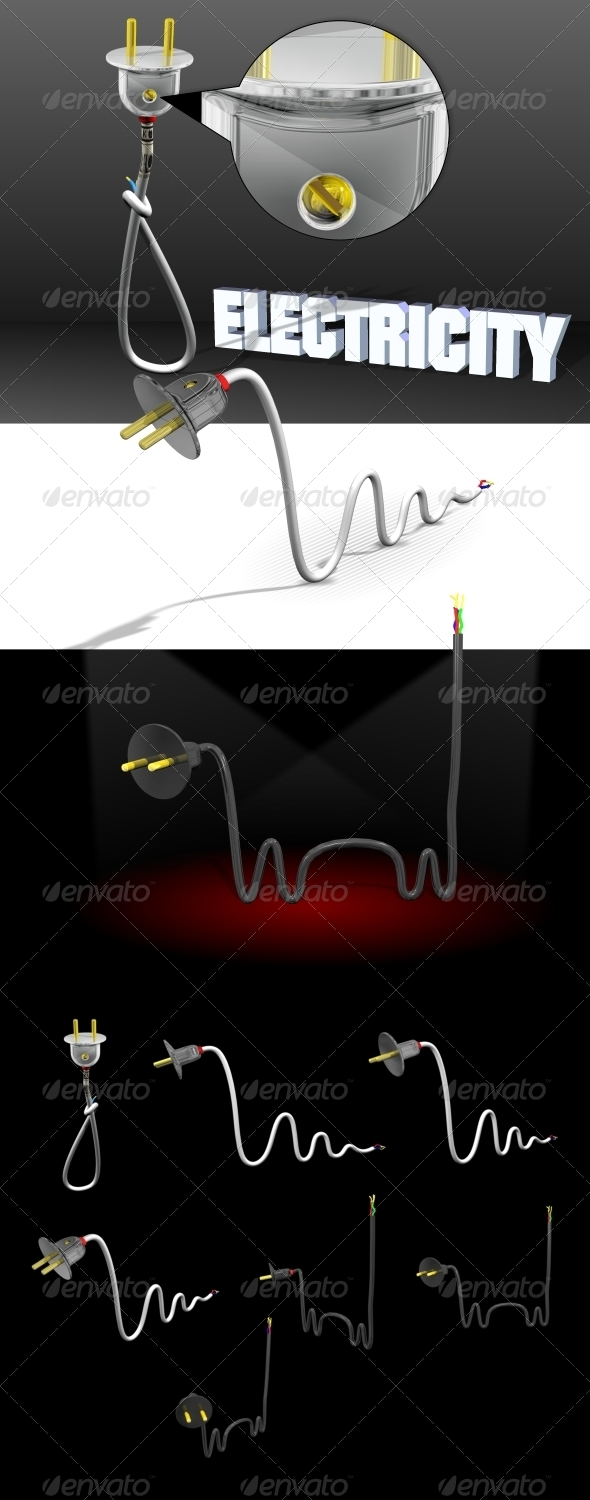 Amusing Electricity - Objects 3D Renders