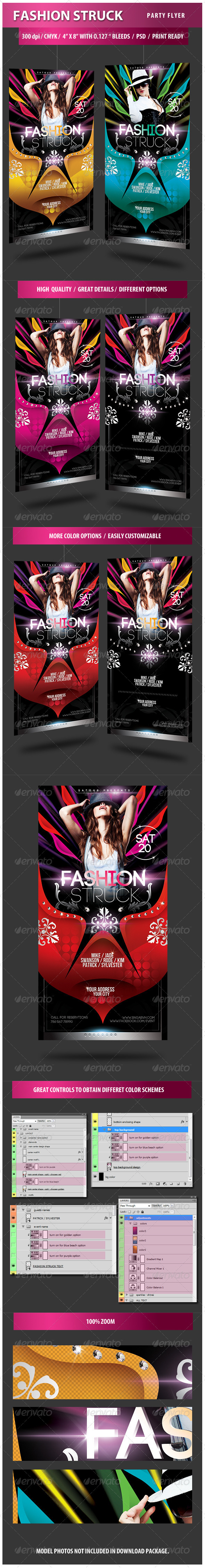 Fashion Struck Party Flyer - Clubs & Parties Events
