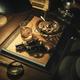 Film noir detective desktop with revolver - PhotoDune Item for Sale
