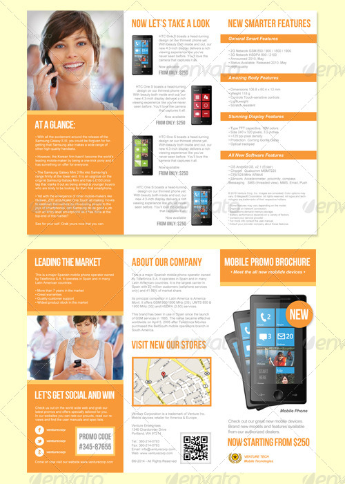 Product promotion trifold brochure by graphikaria for Product brochure template