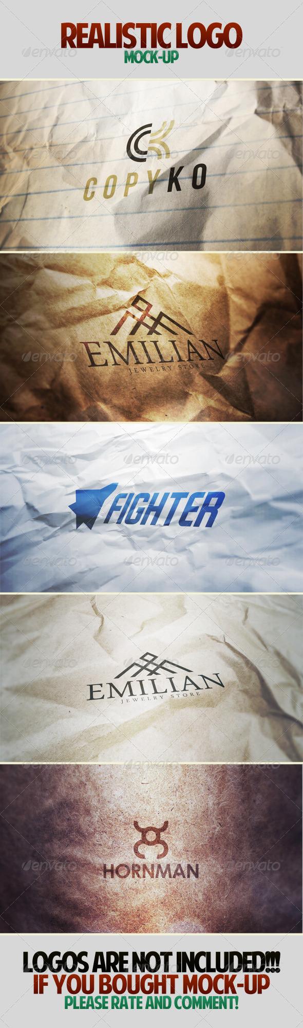 Realistic Logo Mockup - Logo Product Mock-Ups