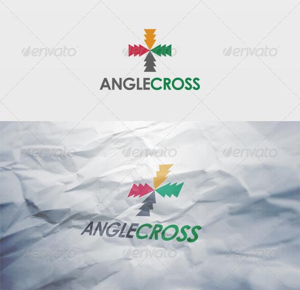 Angle Cross Logo - Vector Abstract
