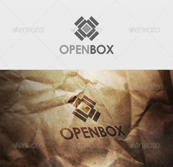 Open Box Logo - Vector Abstract