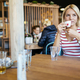 Beautiful woman drinking coffee in cafe - PhotoDune Item for Sale