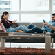 Young Couple Ignoring Each Other While Using Smartphone - PhotoDune Item for Sale