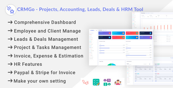 CRMGo - Projects, Accounting, Leads, Deals & HRM Tool