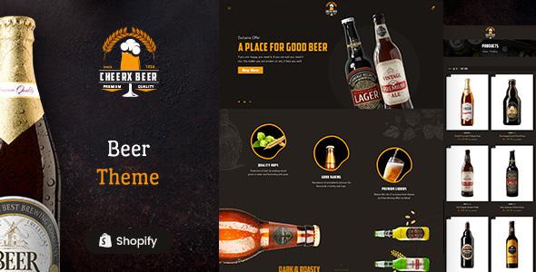 Cheerx - Alchocol & Liquor Store Shopify Theme