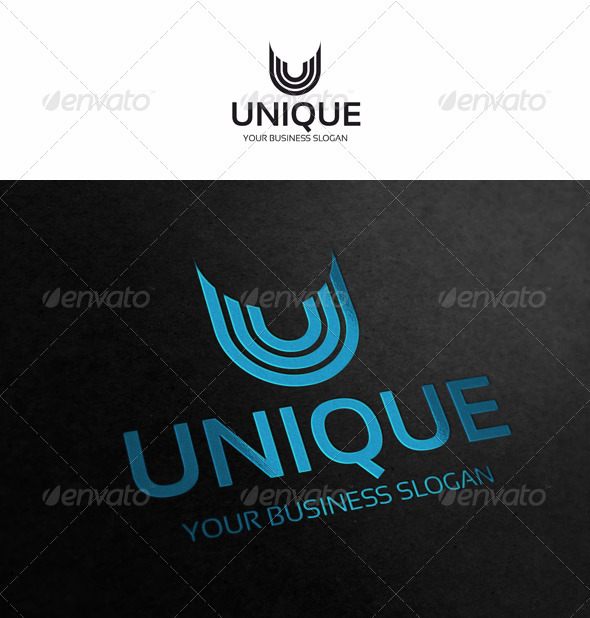 U - Letter Logo - Letters Logo Templates