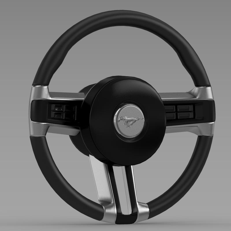 Steering Wheel Mustang - 3DOcean Item for Sale