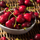 Raw Red Organic Cherries - PhotoDune Item for Sale