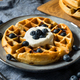 Homemade Warm Blueberry Belgian Waffles - PhotoDune Item for Sale