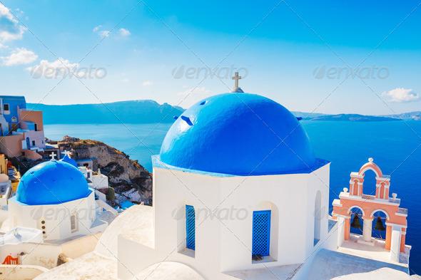 Sanorini Island, Greece - Stock Photo - Images