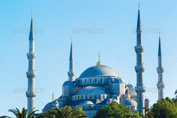 Beautiful Blue Mosque - Stock Photo - Images