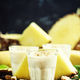 Milk smoothies with banana, pineapple and granola - PhotoDune Item for Sale