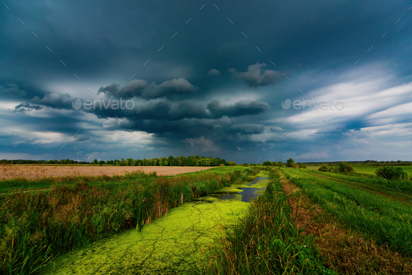 Stormy landscape - Stock Photo - Images