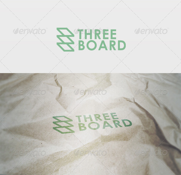 Three Board Logo - Vector Abstract