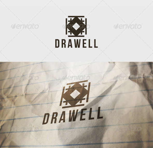 Draw Well Logo - Vector Abstract