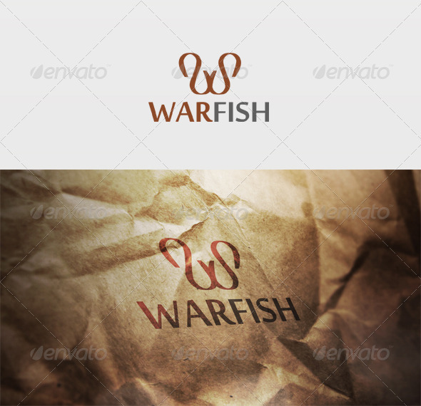 War Fish Logo - Letters Logo Templates
