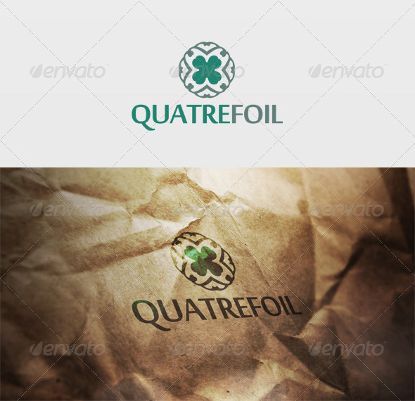 Quatrefoil Logo - Vector Abstract