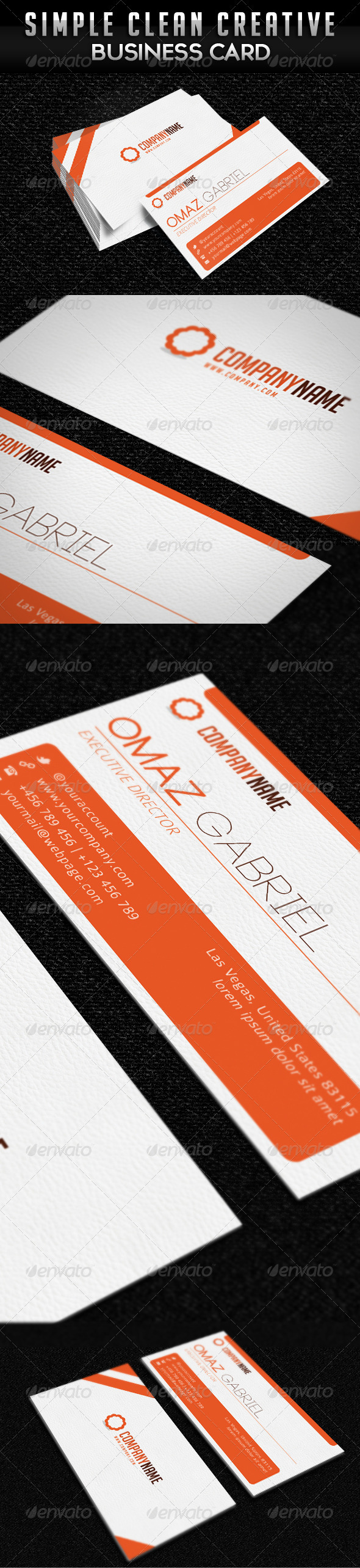 Simple Clean Minimalist Business Card - Corporate Business Cards