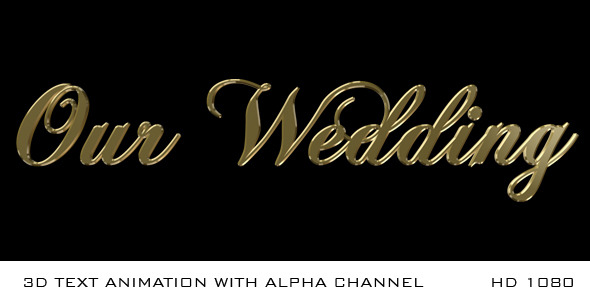 Our wedding 3d by miseld videohive play preview video junglespirit Choice Image