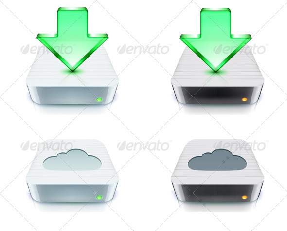 Cloud Storage and Download Concept - Communications Technology