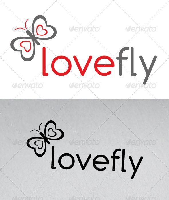Love Fly Logo - Animals Logo Templates