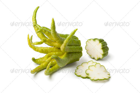 Buddha's hand fruit with slices - Stock Photo - Images