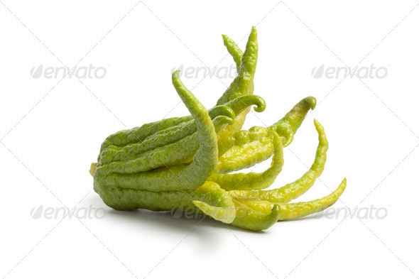Whole single fingered citron fruit - Stock Photo - Images