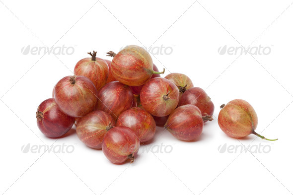 Heap of red Gooseberries - Stock Photo - Images