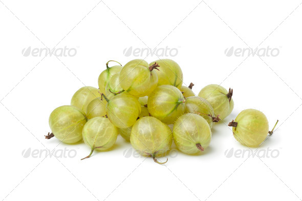 Heap of green Gooseberries - Stock Photo - Images