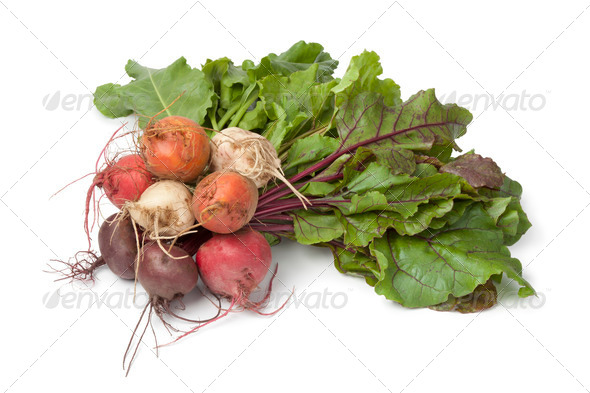 Bunch of fresh mixed color beets - Stock Photo - Images