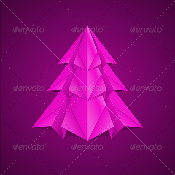 Paper Christmas Tree - Christmas Seasons/Holidays