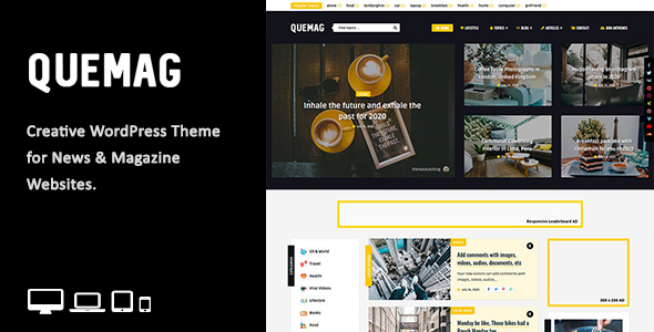 Quemag – Creative WordPress Theme for Bloggers