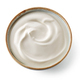 bowl of whipped yogurt cream - PhotoDune Item for Sale